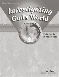 Investigating God's World Quiz and Worksheet Book