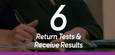 Step 6 Return Tests and Receive Results