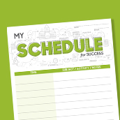 Schedule for Success Card 1