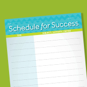 Schedule for Success Card 2