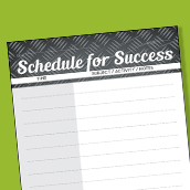 Schedule for Success Card 3