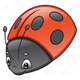 Ladybug red with black spots