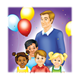 Birthday Party with children and balloons