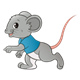 Boy Mouse with a blue shirt