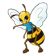 Bee with a blue shirt