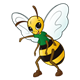 Bee with a green shirt