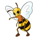 Bee with an orange shirt