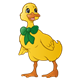 Yellow Duck with a green bow