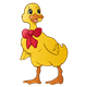 Yellow Duck with a red bow
