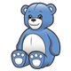 Stuffed Bear blue