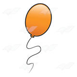 Orange Balloon