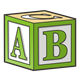Green Block with ABC