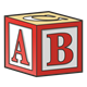 Red Block with ABC