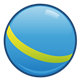 Blue Ball with yellow stripe