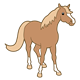 Light Brown Horse with tan mane and tail