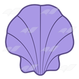 Abeka | Clip Art | Purple Shell