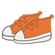 Tennis Shoes orange with white soles