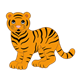 Orange Tiger with black stripes
