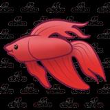 Abeka   Clip Art   Betta Fish (160 x 160 Pixel)