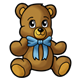 Teddy Bear with a blue bow