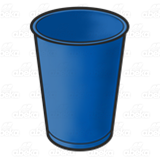 Blue Plastic Cup
