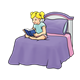Girl Reading on a bed