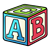 ABC Block Color PNG