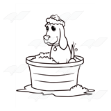 Dog in Tub