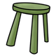 Three-Legged Stool green