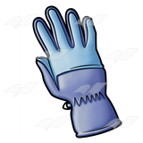 Blue Winter Glove