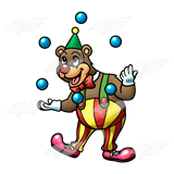Juggling Clown Bear
