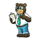 Business Bear with a clipboard and pencil