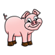 Standing Pig with big smile