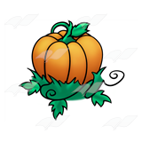 Pumpkin with Vines
