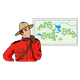 Canadian Mountie looking at a map