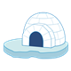 Igloo on an iceberg