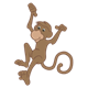 Brown Monkey with hands in air