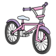 Bicycle pink and purple