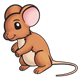 Brown Mouse with pink ears