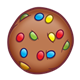Chocolate Cookie with rainbow candies