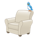 White Chair with blue bird