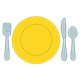Table Setting with yellow plate