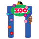 Zoo Gate with a toucan and monkey