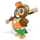 Baseball Owl with a uniform and a bat
