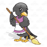 Sweeping Crow