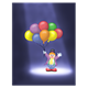 Clown in Spotlight with balloons