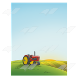Tractor on a Hill