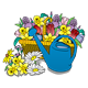 Flower Basket with watering can