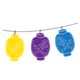 Japanese Lanterns yellow, purple, blue