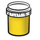 Yellow Paint Jar
